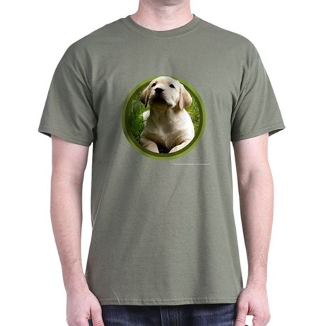 Yellow Lab Puppy Dark T-Shirt