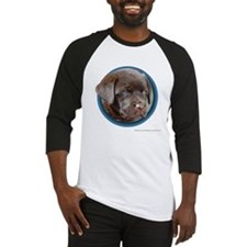 Chocolate Lab Puppy Baseball Jersey