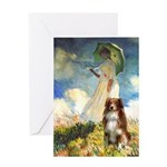 Umbrella-Aussie Shep Greeting Card