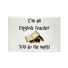 Cute English teacher Rectangle Magnet