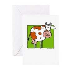 Brown cow Greeting Cards (Pk of 20)