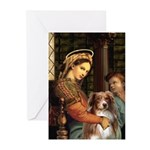 Madonna-Aussie Shep #4 Greeting Cards (Pk of 20)