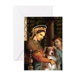 Madonna-Aussie Shep #4 Greeting Card