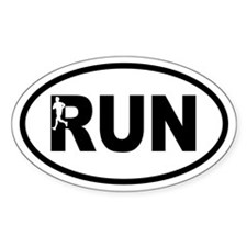Running Inset Runner Oval Decal
