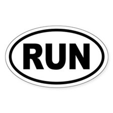 Basic Running Oval Decal