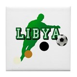 Libya football player Tile Coaster
