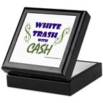 White Trash With Cash Keepsake Box