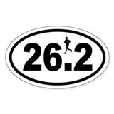 Marathon Runner Oval Bumper Stickers