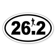 Marathon Runner Oval Decal