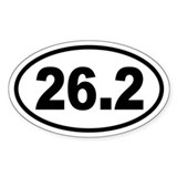 Basic Marathon Oval Decal