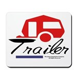 Trailer Red Streamline Mousepad