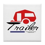 Trailer Red Streamline Tile Coaster