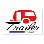 Trailer Red Streamline Rectangle Sticker