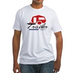Trailer Red Streamline Fitted T-Shirt
