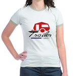 Trailer Red Streamline Jr. Ringer T-shirt