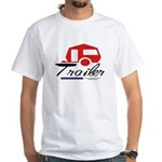 Trailer Red Streamline White T-Shirt