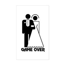Bachelorette Party Game Over Rectangle Decal