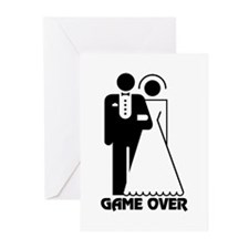 Bachelorette Party Game Over Greeting Cards (Pk of