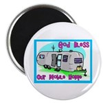God Bless Our Mobile Home 200 Magnet