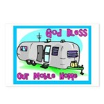God Bless Our Mobile Home 200 Postcards (Package o