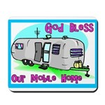 God Bless Our Mobile Home 200 Mousepad