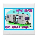 God Bless Our Mobile Home 200 Tile Coaster