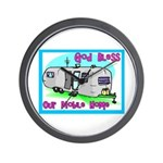 God Bless Our Mobile Home 200 Wall Clock