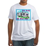 God Bless Our Mobile Home 200 Fitted T-Shirt