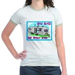 God Bless Our Mobile Home 200 Jr. Ringer T-shirt