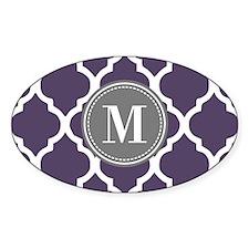 Purple & Gray Quatrefoil Mono Decal