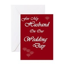 For my Husband on our Wedding Day Greeting Card