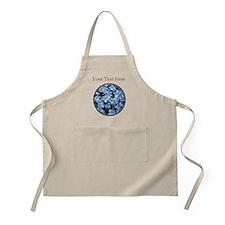 Customizable Blue Hydrangea Flowers Apron