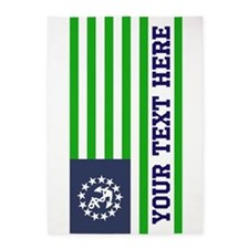 Customized Blue Green Nautical Flag 5'x7'Area Rug