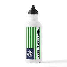 Customized Blue Green Nautical Flag Water Bottle