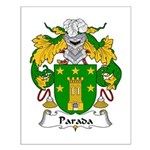 Parada Family Crest Small Poster