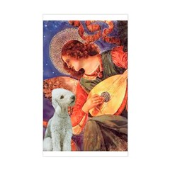 Angel / Bedlington T Sticker (Rectangle)