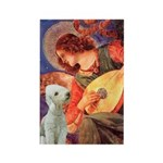 Angel / Bedlington T Rectangle Magnet