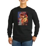 Angel / Bedlington T Long Sleeve Dark T-Shirt