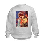 Angel / Bedlington T Kids Sweatshirt