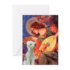 Angel / Bedlington T Greeting Cards (Pk of 20)