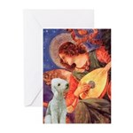 Angel / Bedlington T Greeting Cards (Pk of 10)