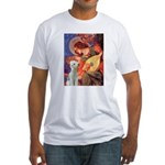 Angel / Bedlington T Fitted T-Shirt