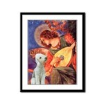 Angel / Bedlington T Framed Panel Print