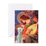 Angel / Bedlington T Greeting Card