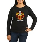 Outiz Family Crest Women's Long Sleeve Dark T-Shir