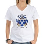 Novais Family Crest Women's V-Neck T-Shirt