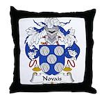 Novais Family Crest Throw Pillow