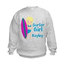 Surfer Girl Blonde Sweatshirt