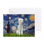 Starry / Bedlington Greeting Card