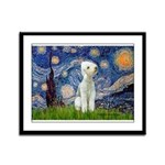 Starry / Bedlington Framed Panel Print